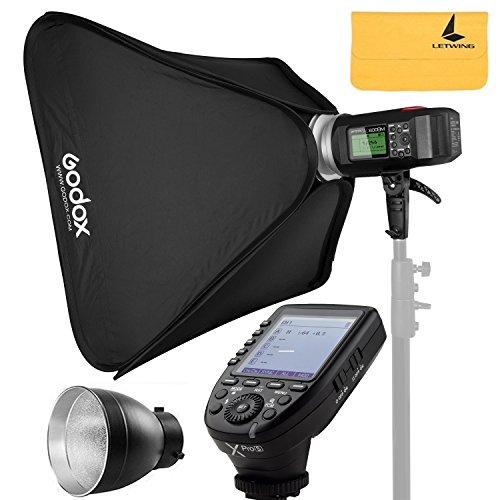 Godox AD600BM AD Sync 1 / 8000s 2.4G Wireless Flash Light Speedlite,Godox XPro-S for Sony DSLR Cameras,AD-R6,80cmX80cm /32''X32''Softbox by Godox