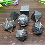 Autumn Water 7pcs Hematite Platonic Solids Sacred Meditation Crystal Geometric Set
