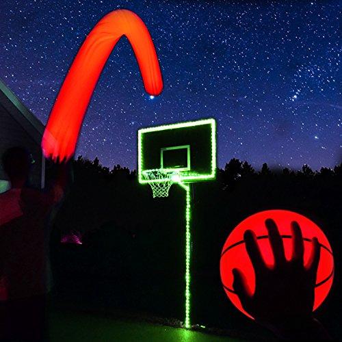 Light Up Basketball Hoop Kit with LED Basketball (Green)