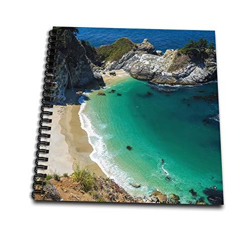 3dRose Danita Delimont - California - McWay Cove, Julia Pfeiffer Burns State Park, Big Sur, California, USA - Drawing Book 8 x 8 inch (db_314702_1) (Julia Pfeiffer Burns State Park Big Sur)
