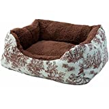 """Alphapooch Toile and Coco Cuddler Pet Bed, 26"""" L x 20"""" W- Small"""