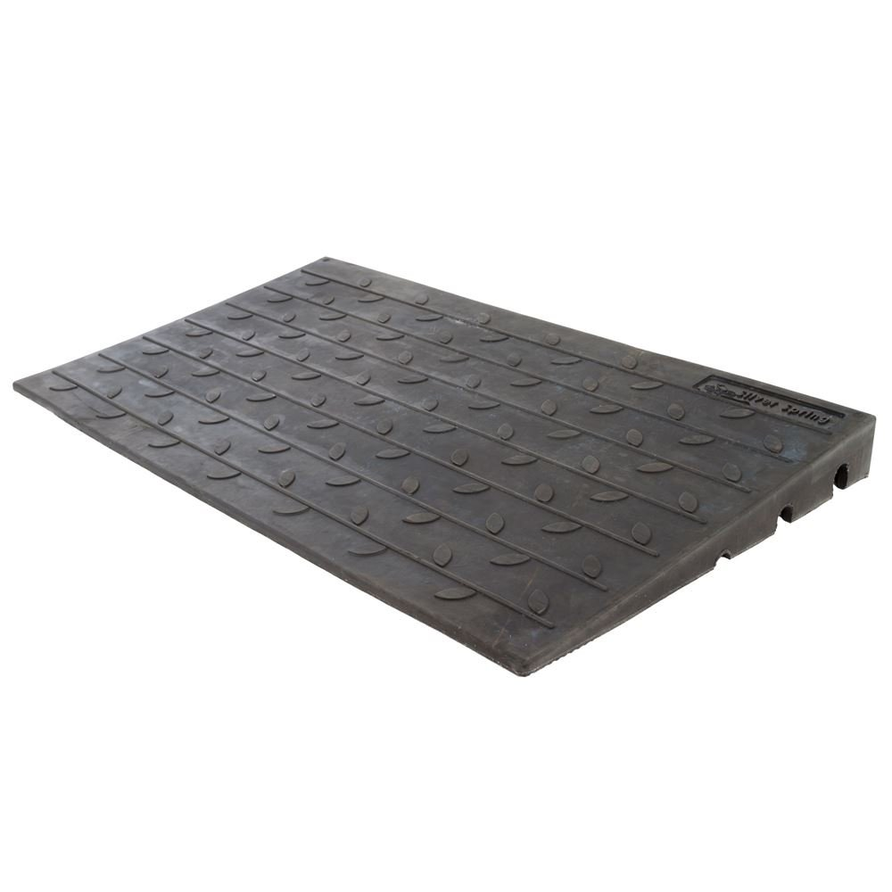 24'' X 42'' X 3'' Silver Spring Rubber Solid Threshold Ramp - 600 lb Capacity