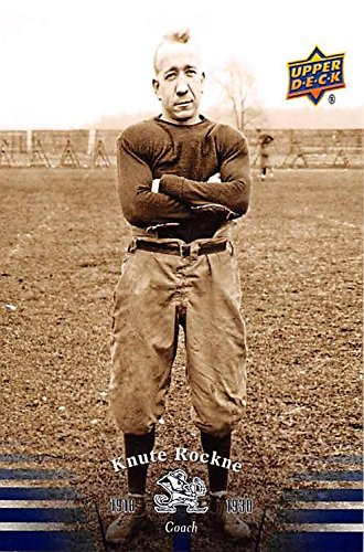 Knute Rockne football card (Notre Dame Fighting Irish) 2012 Upper Deck #1 1918-1930 Coach by Autograph Warehouse