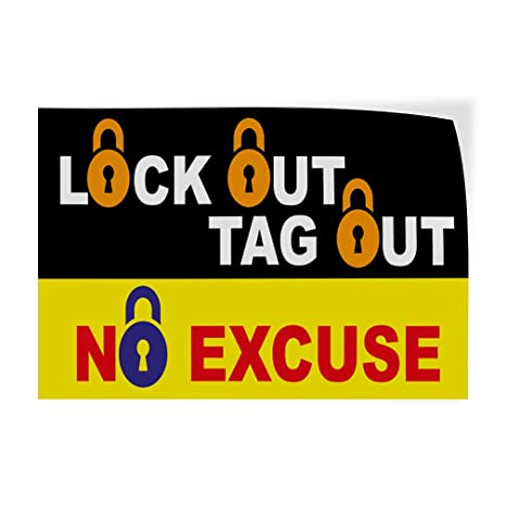 Amazon Com Decal Sticker Lockout Tag Out Business Industrial