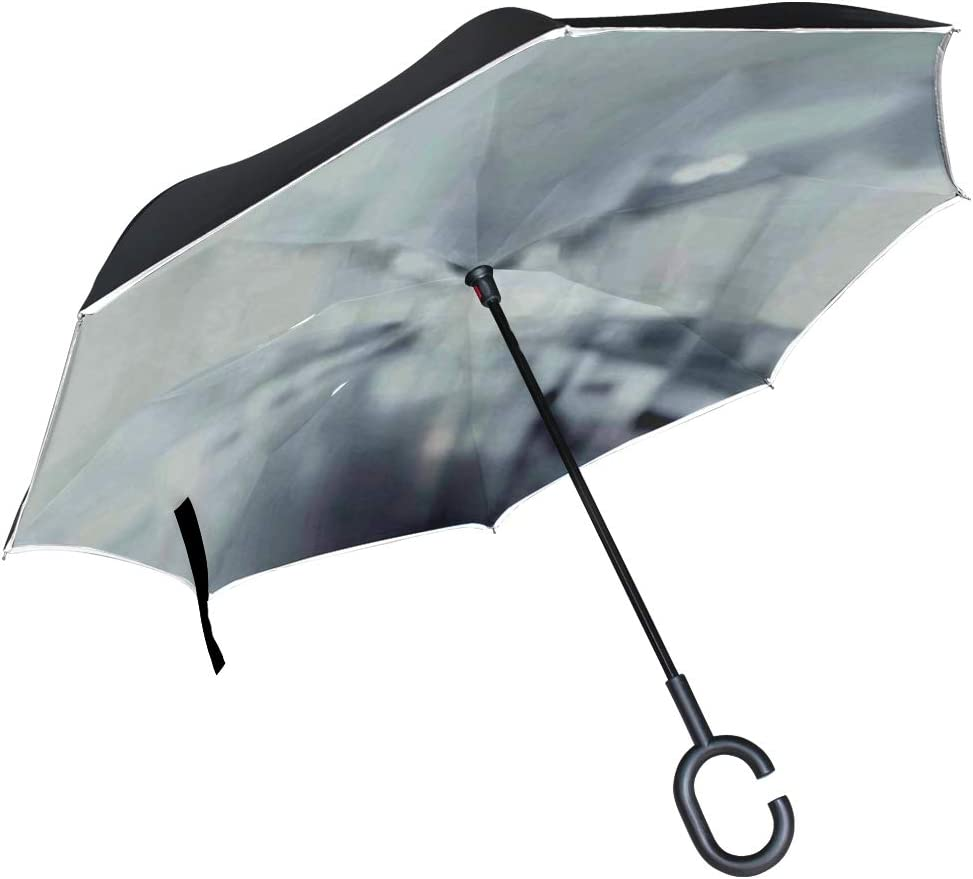 Double Layer Inverted Inverted Umbrella Is Light And Sturdy Abstract Blurred Path Way Waysuccesstechnology Background Reverse Umbrella And Windproof