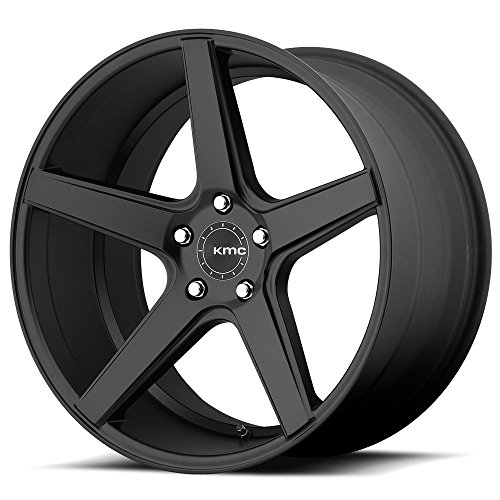 One KMC Satin Black KM685 District Wheel/Rim - 19x8.5 - 5x114.3 - +35mm