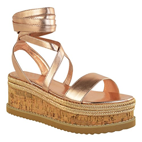 Women's Slope Sandals Summer Bohemian Style Hemp Rope Ankle Lace up Shoes Casual Holiday Beach Shoes Open Toe Roman Sandals Green Black Brown Gold White Gold IqrXSSj