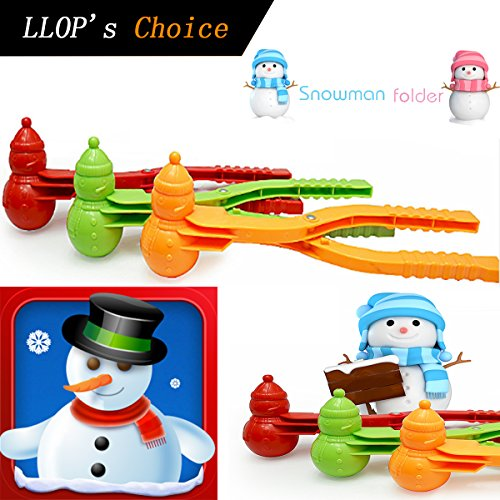 Snowball Maker,1 PcLLOP Perfect Outdoor Play Snow Toys for Kids,Two balls Let You Make Snowballs Quickly (Snowman)