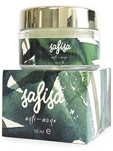 Safisa Acne Spot Treatment Face Cream - Rich in Salicylic Acid, Shea Butter, Olive Oil & Grape Seed - Anti-Bacterial & Exfoliating - No Drying - Cystic Acne & Inflammation Relief - All Skin Types