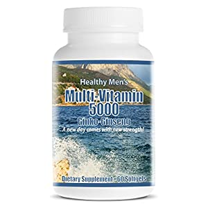 MultiVitamin 5000 with Ginseng -The Best Multivitamin Supplement for Heart Health, Energy,…