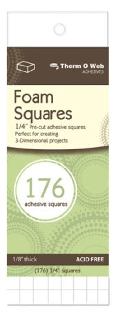 3D Foam Squares-White .25 176/Pkg Notions - In Network XTH3683