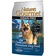 Nature'S GourmetDog Food, Premium Natural Healthy Grain Free Adult Dry Dog Food, Organic High Protein White Fish 4lbs, Model Number: NGDF-AF0400-01