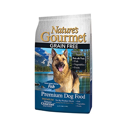 Cheap Nature's Gourmet Dog Food, Premium Grain Free Adult Dry Dog Food, White Fish, 4 lb Bag
