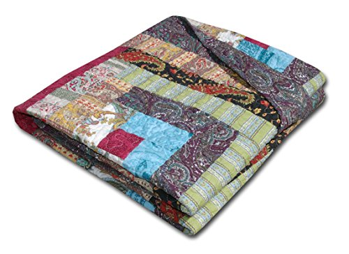 Greenland Home Colorado Cabin Throw (Log Cabin Throw Quilt)