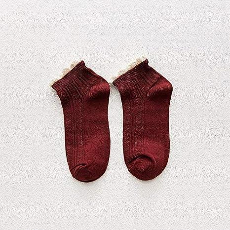 Calcetines de Invierno Encaje de Aguja de Hilo Negro japonés ...