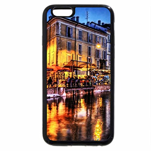 iPhone 6S / iPhone 6 Case (Black) canal in restaurant row hdr