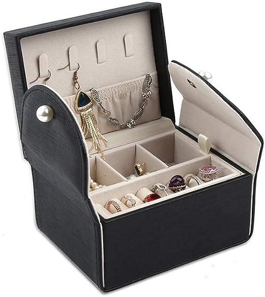 Caja joyero pequeña Caja de almacenaje para Viaje Estilo Mini ...