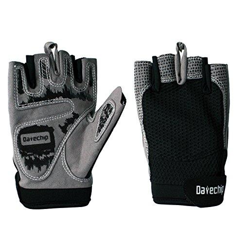Half Finger Sports Cycle Gloves – Datechip Fingerless Bike Gloves Gel Pad for Sporting Biking Cycling Motorcycle Mountain Bike Riding Women Men Kids Youth (Black XL)