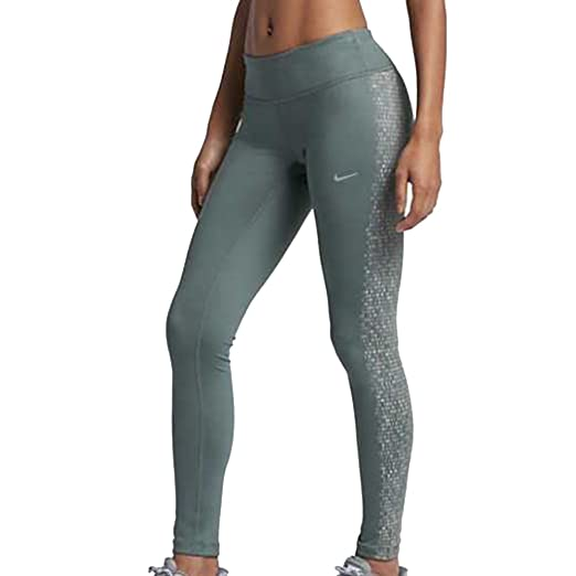Nike Womens Power Epic Run Flash Tights Green 839624 392 ...