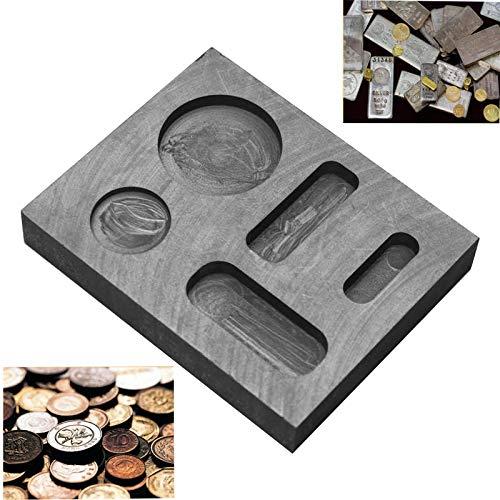 LTKJ 1/4 1/2 1 OZ Graphite Casting Ingot Mold Metal Refining Scrap Bar Coin Combo for Melting Casting Refining Precious Metal Jewelry