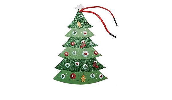 Amazon Com Whitelotous Christmas Door Hanger Foam Board Doorknob Hanging Card Pendant Ornament Home Decoration Xmas Tree Home Kitchen