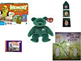 Children's Gift Bundle - Ages 3-5 [5 Piece] - Shrek Forever After Memory Game - Crayola Green Crayon 3-Tier Picture Frame - Ty Beanie Baby - Erin the Irish St Patrick's Teddy Bear - Thomas & Friend