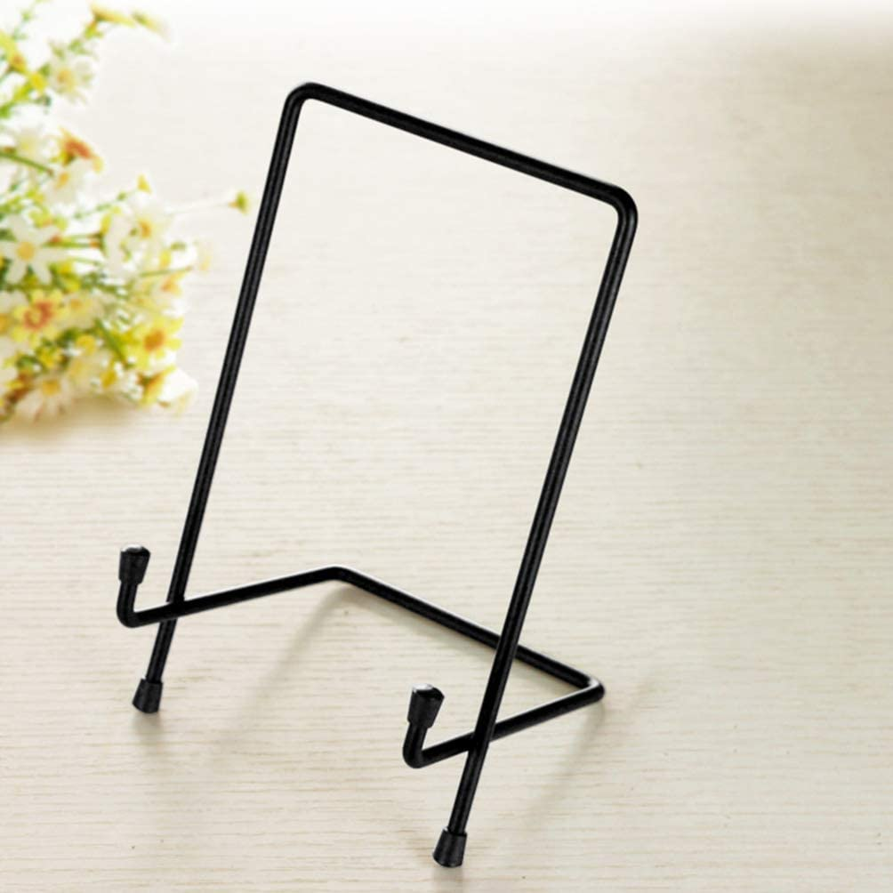 Plaque Book NUOBESTY 1PC Metal Display Stand Display Easel for Home Office Decor Stand Art Plate Holder,Photo Frame