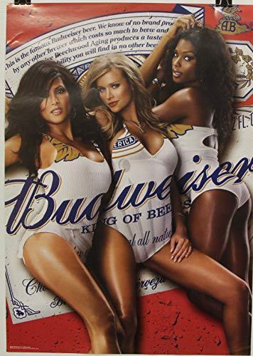 budweiser select Beer Poster 3 Ladys in Bud Bikini 2007 Print Pinup