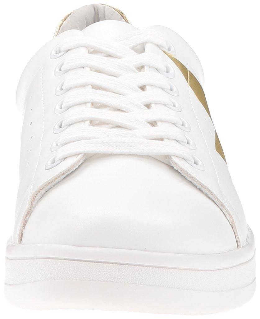 1e54670277a Steve Madden Women's Rayner Fashion Sneaker, White/Gold, 9.5 M US ...