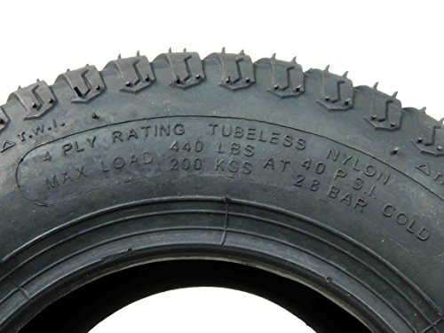 MASSFX Lawn Mower and Garden Tires 13x5-6 MO1356 4 PLY 3mm Tread 2 Tire Set by MASSFX (Image #3)