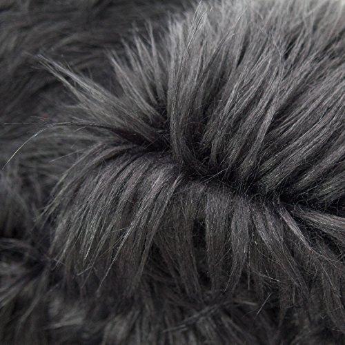 Monkey Fur - Faux Fake Fur Monkey Black 60 Inch Fabric by the Yard (F.E.®)