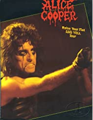 Alice Cooper 1987 Raise Your Fist Tour Concert Program Programme
