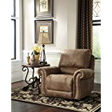 ashley furniture signature design larkinhurst rocker recliner manual reclining chair traditional style earth