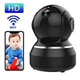 WONNIE Wireless IP Camera Full HD 1080P Camera Baby Monitor Pan/Tilt/Zoom Security Surveillance System with Night Vision, Remote Monitor (Black)
