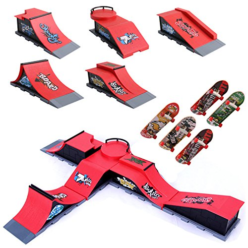 Delight eShop 5pcs/set Skate Park Ramp Parts
