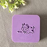 2016 natural handmade acrylic soap seal stamp mold chapter mini diy cow patterns organic glass 4X4 cm.