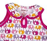 Zutano Keyhole Collar Dress -Ellas Elephants, 6