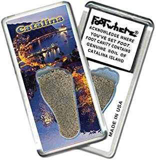 product image for Catalina Island FootWhere Souvenir Fridge Magnet. Made in USA (CI201 - Avalon Bay)
