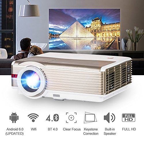 Bluetooth HD WiFi Movie Projector,High Brightness 4200 Lumen LCD TFT 200