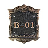 Aspire Customized Home Address Sign, House Hotel Office Number Sign, Acrylic Address Plaque Sign, Large Size-A-11.8'' L x 9.2'' W