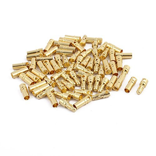 DealMux 35 Pairs Gold Plated 3.5mm Male Female Banana RC Model Charger Connector