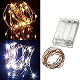 Lights & Lighting - Warm White/Pure White 2m 20led Copper Wire Led String Lights Lamp 5v - Led Copper String Lights 100ft BatteryRemote Solar Wire Light Color - 1PCs