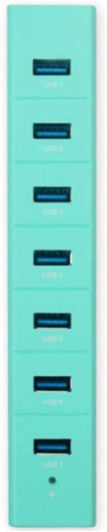 Hub Color : Light Green 3.0 High Speed 7 Port HUB Multi Interface Expansion Dock Converter Hub USB Splitter