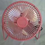 CHECKYS DEALS PINK 6 INCH METAL BLADE AND CAGE DESK TOP FAN USB POWERED