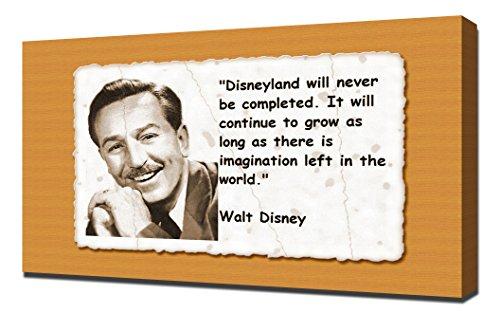 Walt Disney Quotes 5 - Canvas Art Print