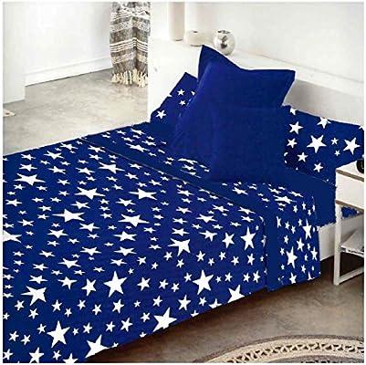 COTTON ARTean Juego de sabanas Invierno Franela 100% Algodon Modelo Cielo Azul Cama de 180 x 190/200: Amazon.es: Hogar