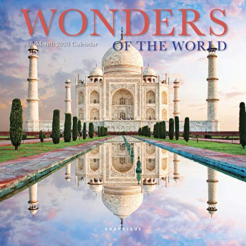 Graphique Wonders of The World Mini Wall Calendar, 16-Month 2020 Wall Calendar with Historic Global Landmark Photographs, 3 Languages & Major Holidays, 2020 Calendar, 7