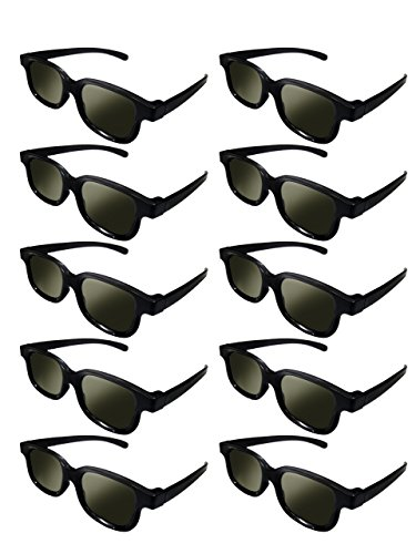 Lot of 10x RealD Technology 3D Polarized Glasses for TV/Movies/Cinema/HD by Izgut Ltd.