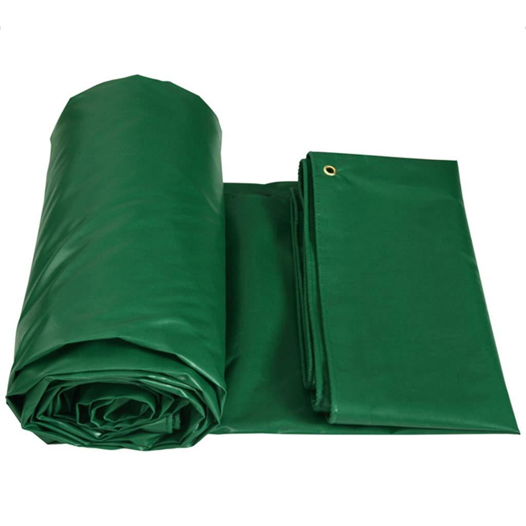Wasserdichte Plane aus Planenstoff - Grüne Plane - Hochwertige Abdeckung aus 450 Gramm Quadratmeter Plane