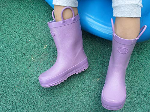 Pictures of Outee Toddler Girls Kids Rain Boots Rubber GLR18AGLTPUR8 7